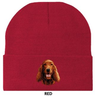 Irish Setter Knit Cap - Embroidered