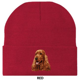 English Cocker Spaniel Knit Cap - Embroidered