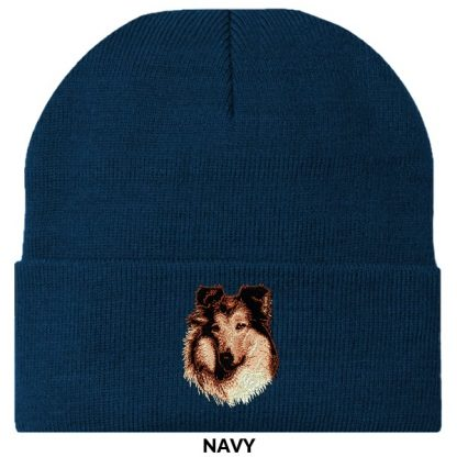 Collie Knit Cap - Embroidered (Rough)