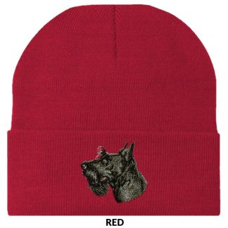 Scottish Terrier Knit Cap - Embroidered