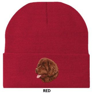 Newfoundland Knit Cap - Embroidered (Brown)