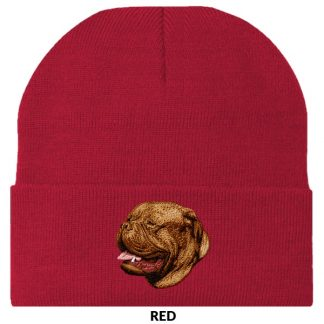Dogue de Bordeaux Knit Cap - Embroidered