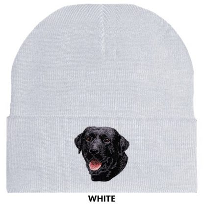 Black Lab Knit Cap - Embroidered