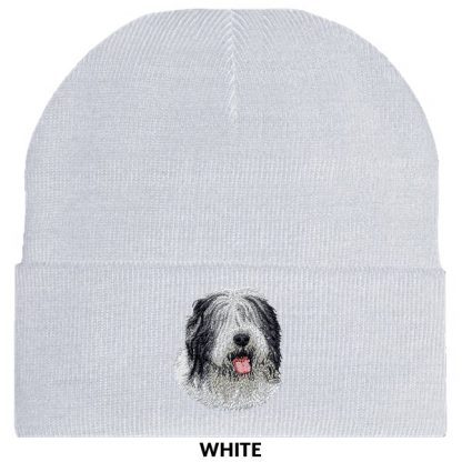 Old English Sheepdog Knit Cap - Embroidered