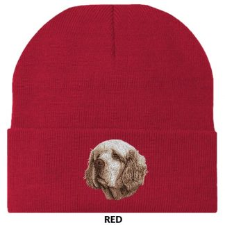 Clumber Spaniel Knit Cap - Embroidered