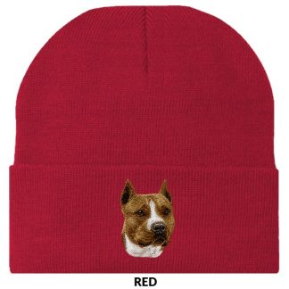 Staffordshire Terrier Knit Cap - Embroidered