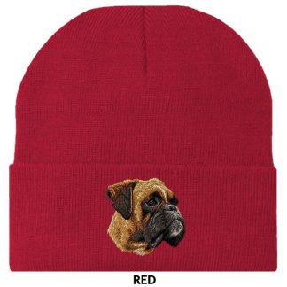 Boxer Knit Cap - Embroidered (Uncropped)