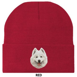 Samoyed Knit Cap - Embroidered