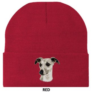 Whippet Knit Cap - Embroidered