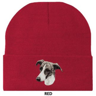 Greyhound Knit Cap - Embroidered