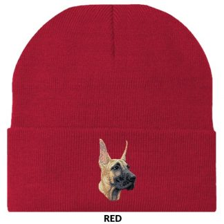 Great Dane Knit Cap - Embroidered