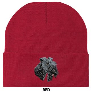 Kerry Blue Terrier Knit Cap - Embroidered