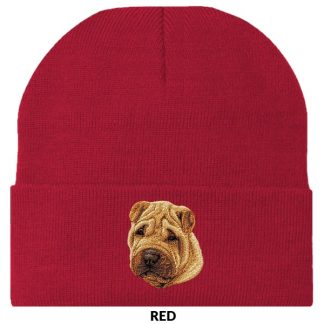 Shar Pei Knit Cap - Embroidered