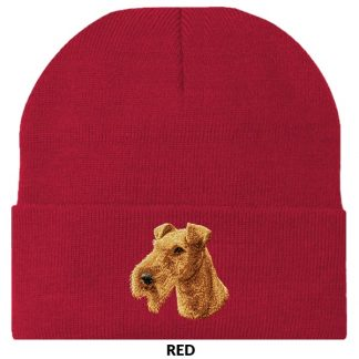 Irish Terrier Knit Cap - Embroidered