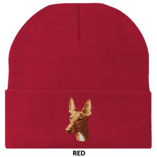 Pharaoh Hound Knit Cap - Embroidered