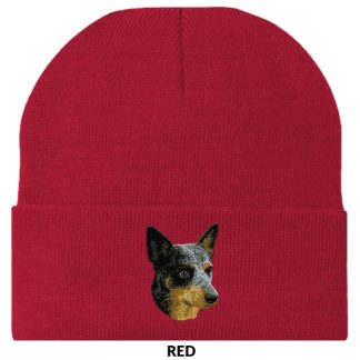 Australian Cattle Dog Knit Cap - Embroidered
