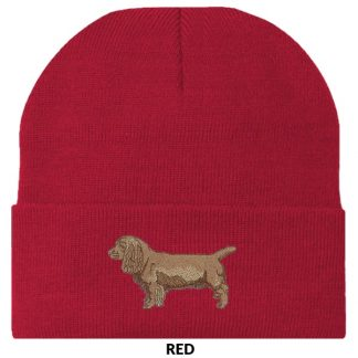 Sussex Spaniel Knit Cap - Embroidered