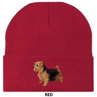 Norfolk Terrier Knit Cap - Embroidered