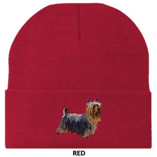 Silky Terrier Knit Cap - Embroidered