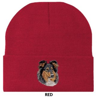 Collie Knit Cap - Embroidered (Tri)