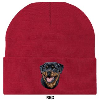 Rottweiler Knit Cap - Embroidered
