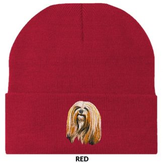 Lhasa Apso Knit Cap - Embroidered