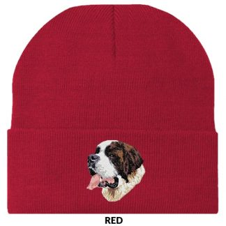 Saint Bernard Knit Cap - Embroidered