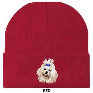 Maltese Knit Cap - Embroidered