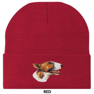 Bull Terrier Knit Cap - Embroidered