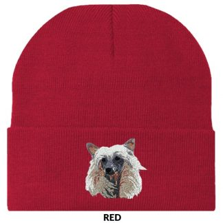 Chinese Crested Knit Cap - Embroidered