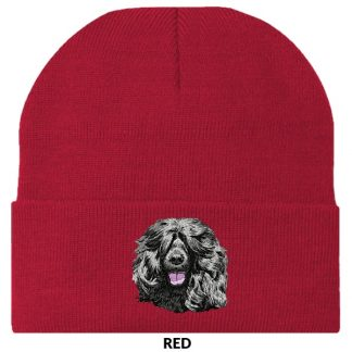 Portuguese Water Dog Knit Cap - Embroidered (Black)