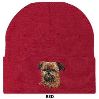 Brussels Griffon Knit Cap - Embroidered
