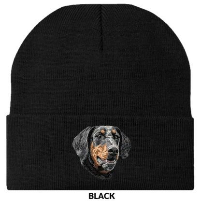 Doberman Pinscher Knit Cap - Embroidered (Uncropped)
