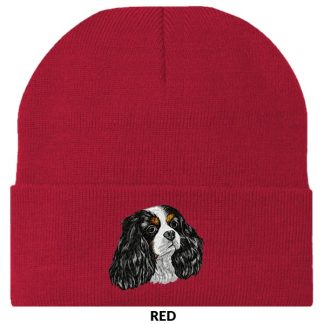Tri Cavalier Spaniel Knit Cap - Embroidered