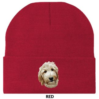 Goldendoodle Knit Cap - Embroidered