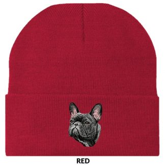 French Bulldog Knit Cap - Embroidered