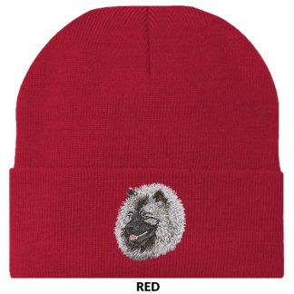 Keeshond Knit Cap - Embroidered