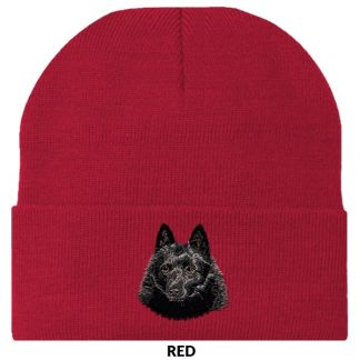Schipperke Knit Cap - Embroidered