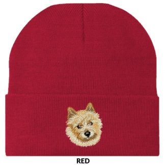 Norwich Terrier Knit Cap - Embroidered