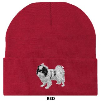 Japanese Chin Knit Cap - Embroidered (Black)