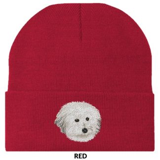 Coton de Tulear Knit Cap - Embroidered