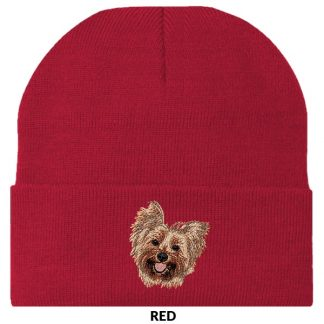Yorkshire Terrier Knit Cap - Embroidered
