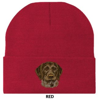 German Wirehair Pointer Knit Cap - Embroidered