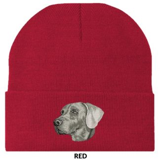 Weimaraner Knit Cap - Embroidered