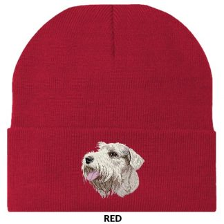 Sealyham Terrier Knit Cap - Embroidered