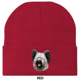 Skye Terrier Knit Cap - Embroidered
