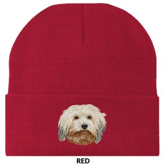 Havanese Knit Cap - Embroidered