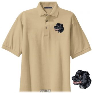 Staffordshire Bull Terrier Polo Shirt - Embroidered (Black)