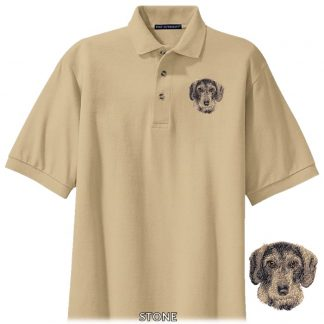 Wirehaired Dachshund Polo Shirt - Embroidered