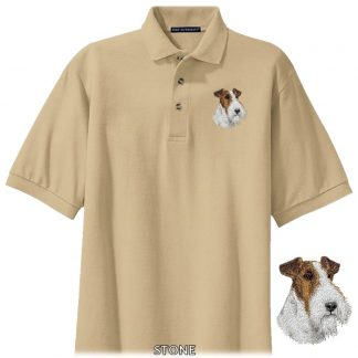 Wire Fox Terrier Polo Shirt - Embroidered